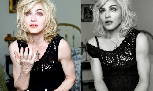Madonna Rage at Un-Retouched Photos