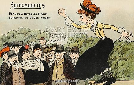 anti suffrage cartoon brute force